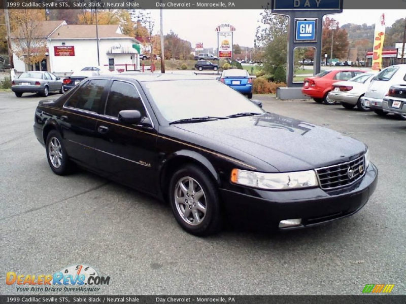 1999 Cadillac Seville STS Sable Black / Neutral Shale Photo #1