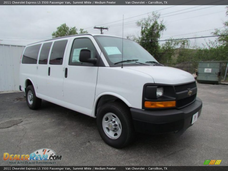 2011 Chevrolet Express LS 3500 Passenger Van Summit White / Medium ...