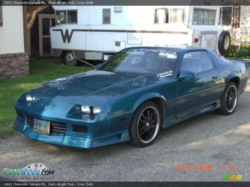 1991 Chevrolet Camaro RS, Dark-Bright Teal / Grey Cloth