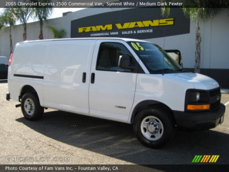 2005 Chevrolet Express 2500 Commercial Van in Summit White. Click to ...