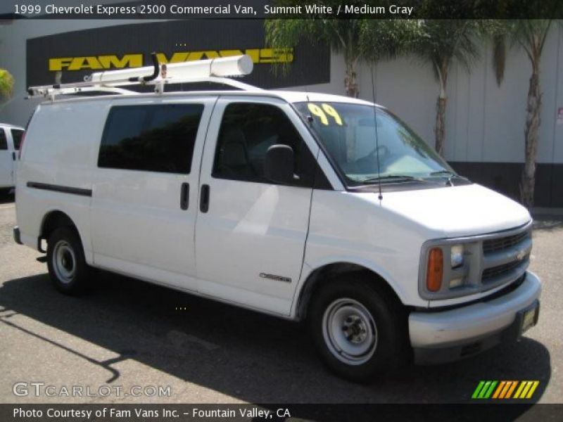 1999 Chevrolet Express 2500 Commercial Van in Summit White. Click to ...