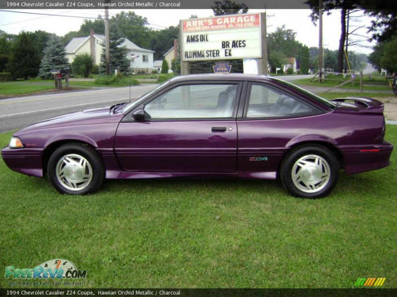 1994 Chevrolet Cavalier Z24 Coupe, Hawiian Orchid Metallic / Charcoal