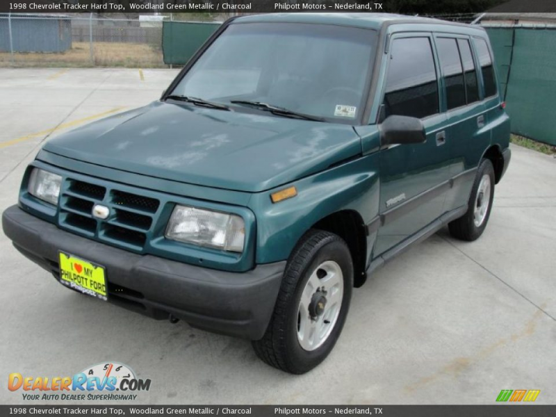 1998 Chevrolet Tracker Hard Top Woodland Green Metallic / Charcoal ...