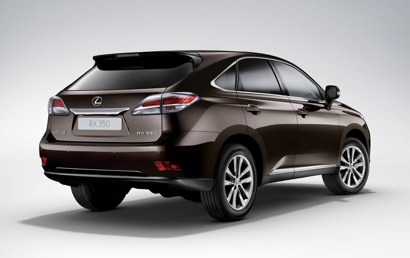 2013 Lexus RX 350, rear view.