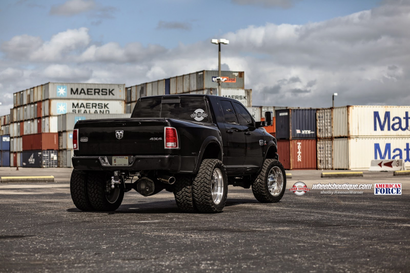 RAM 3500 Dually On Nitto Trail Grapplers by American Force Wheels