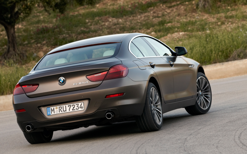 2013 Bmw 6 Series Gran Coupe Rear Three Quarters