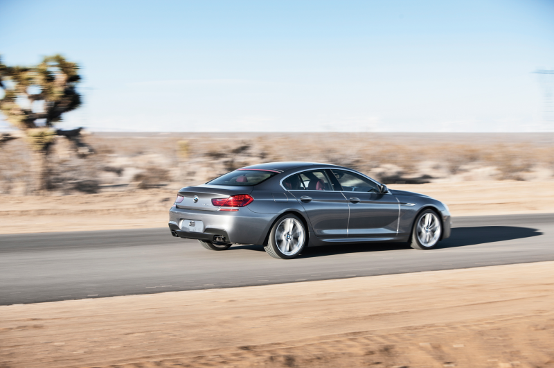2013 Bmw 650I Gran Coupe Rear Three Quarters In Motion