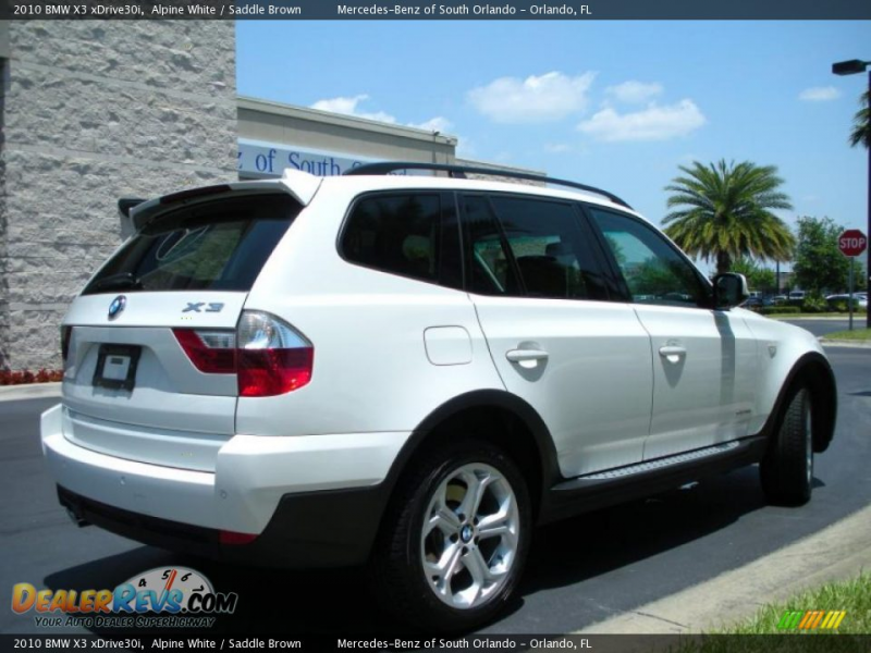 2010 BMW X3 xDrive30i Alpine White / Saddle Brown Photo #6
