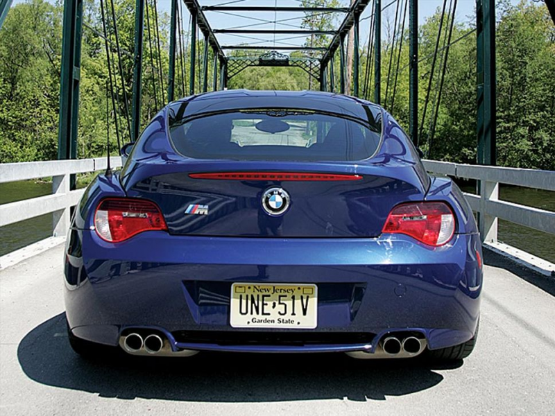 2007 Bmw Z4 M Coupe Back Photo 1
