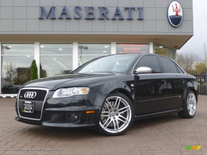 2007 RS4 4.2 quattro Sedan - Phantom Black Pearl Effect / Black photo ...