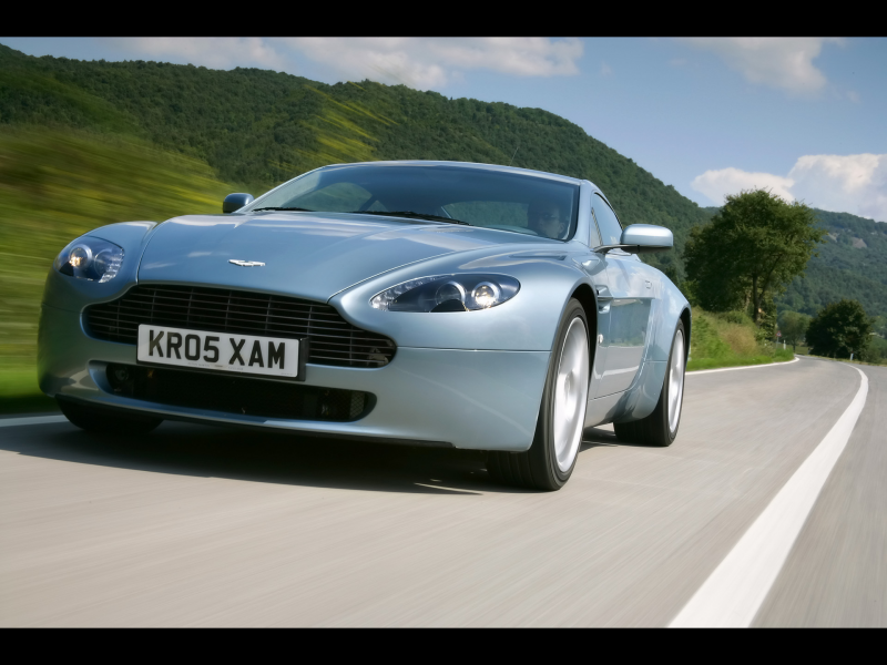 2007 Aston Martin V8 Vantage - Front Angle Speed Low View - 1920x1440 ...