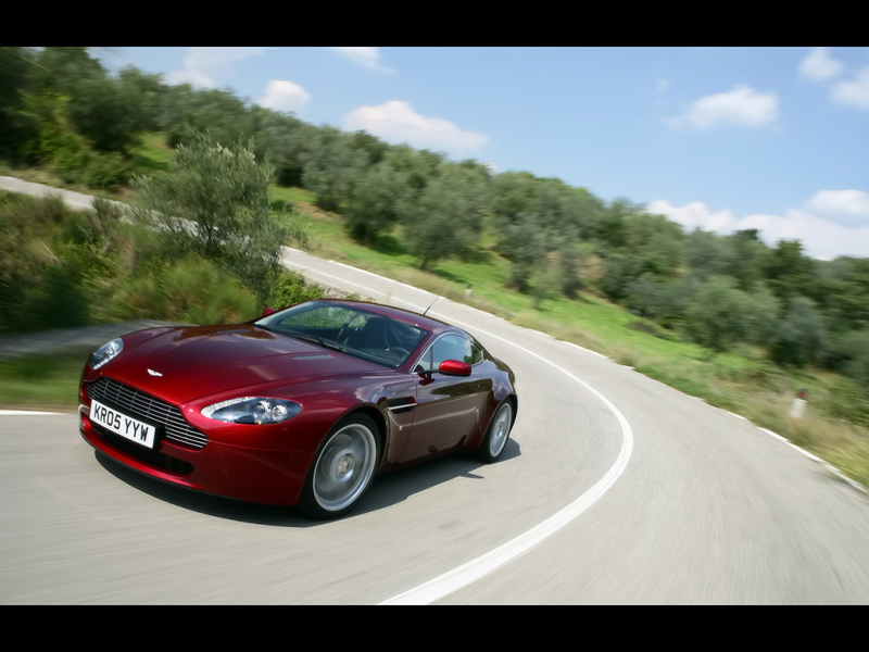 2007 Aston Martin V8 Vantage - Red Front And Side Speed Turn ...