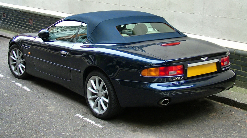 ... Aston Martin DB7 Vantage. Then again, this is more likely your stock