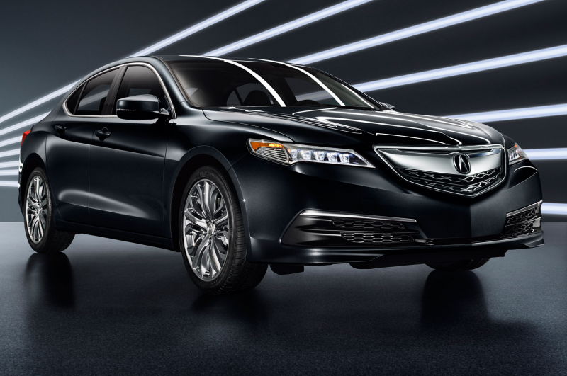 2015 Acura Tlx Front Side View In Black