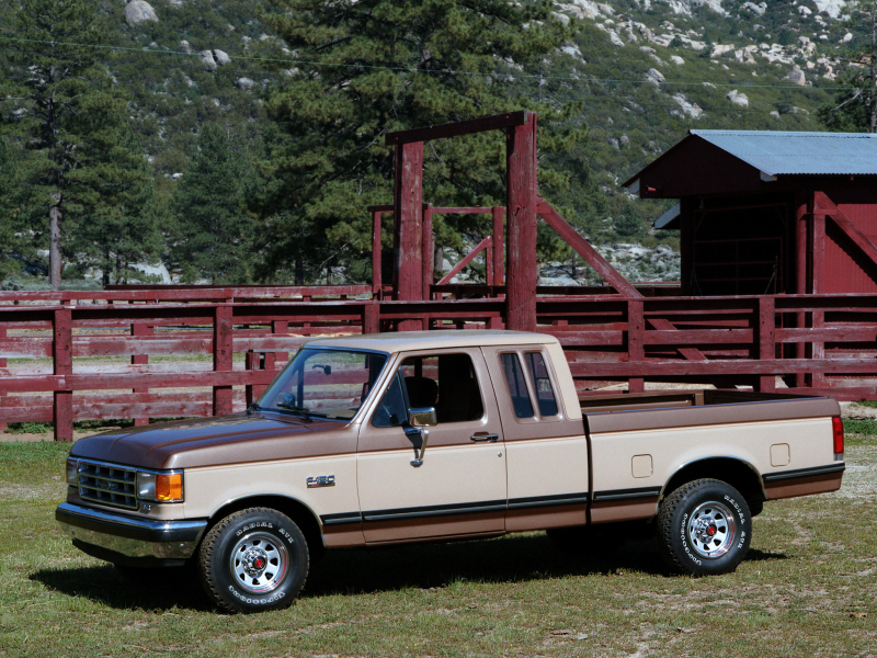 1987 Ford F-150 SuperCab pickup g wallpaper background