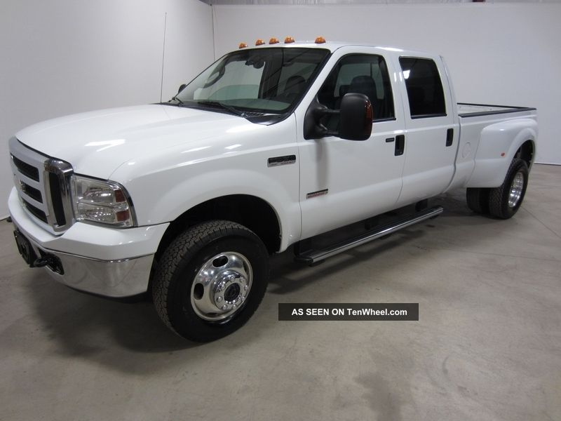 2005 Ford F350 Lariat Turbo Diesel Crew Dually Automatic 4x4 80 Pics F ...