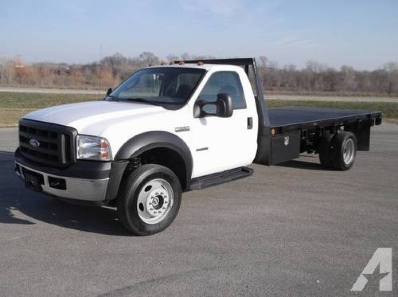 2006 Ford F550 4x4 16ft flatbed Low Low miles F450 F350 for sale in ...
